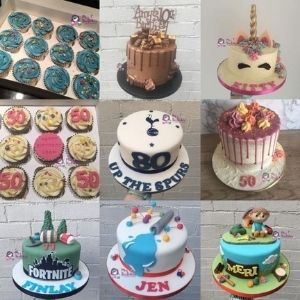 Variety of cakes made by a small business