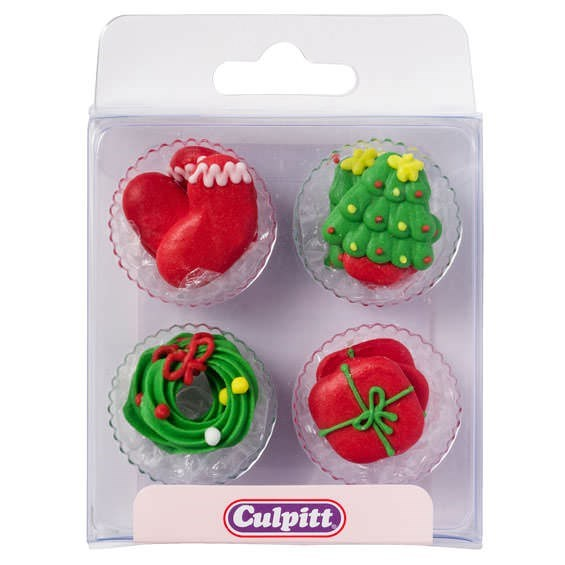 Culpitt Christmas Icons Sugar Cake Decorations - Pack of ...
