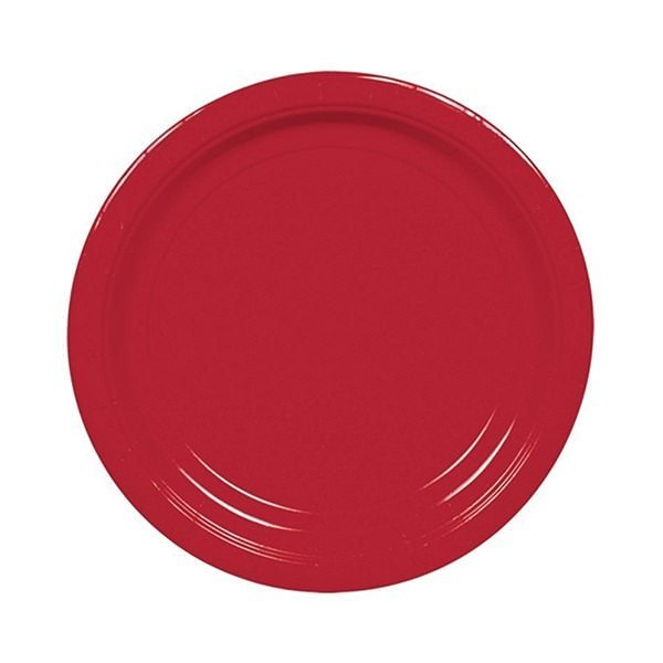 Apple Red Paper Party Plates - Pack of 20