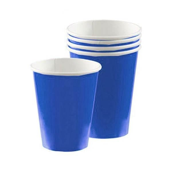 Royal Blue Paper Party Cups - Pack of 20
