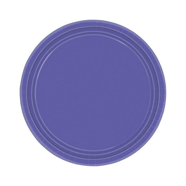 Purple Paper Party Plates - Pack of 20
