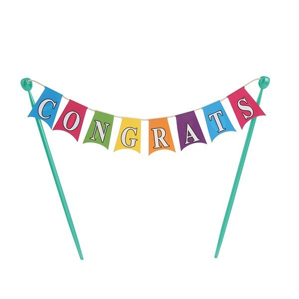 Congratulations Cake Bunting Topper