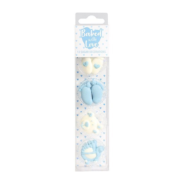 Baby Boy Sugar Cake Decorations by Baked with Love
