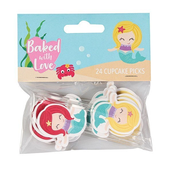 Mermaid Cupcake Picks by Baked with Love