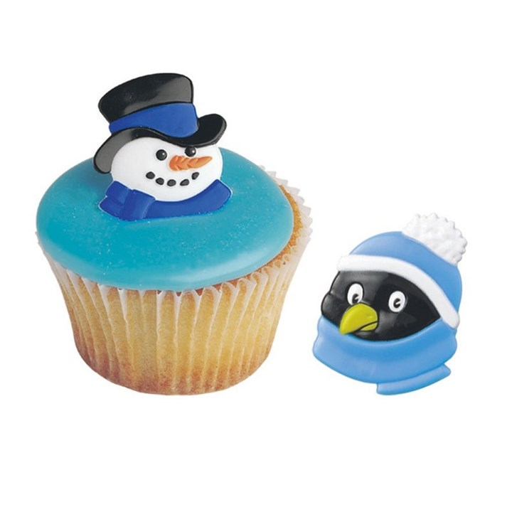 Snowman and Penguin Rings