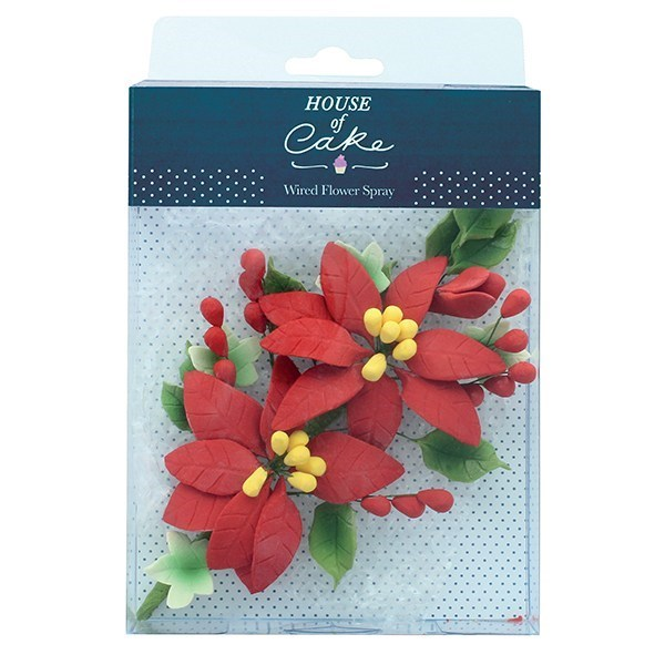 House of Cake Poinsettia Wired Sugar Spray