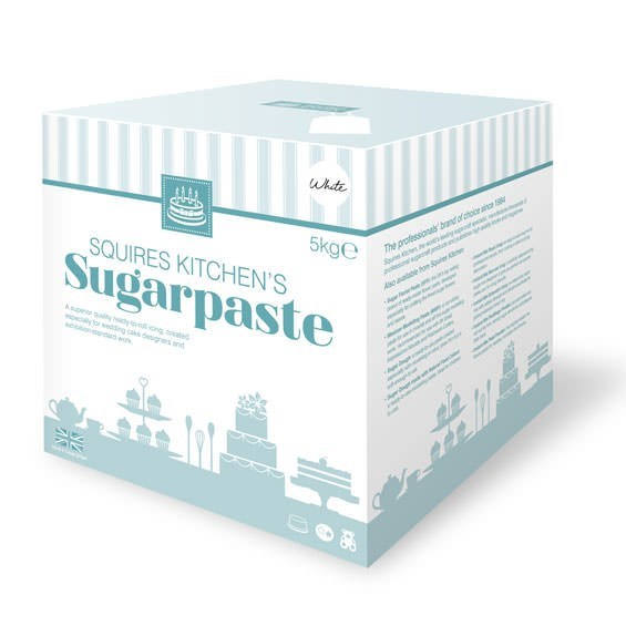 Squires Ready To Roll Sugarpaste - Bridal White - 5kg