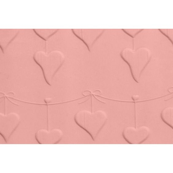 FMM Embossed Rolling Pin - Heart Bunting