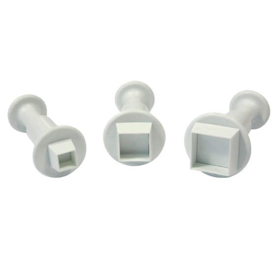 PME Square Plunger Cutter - Set of 3