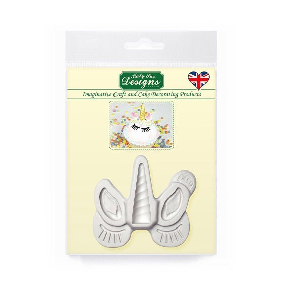 Katy Sue Silicone Sugarcraft Mould - Unicorn Ears, Horn & Lashes