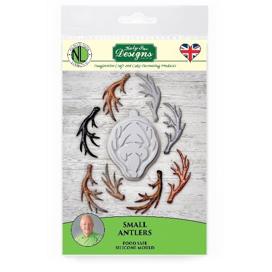 Katy Sue Antler Sugarcraft Mould - Small