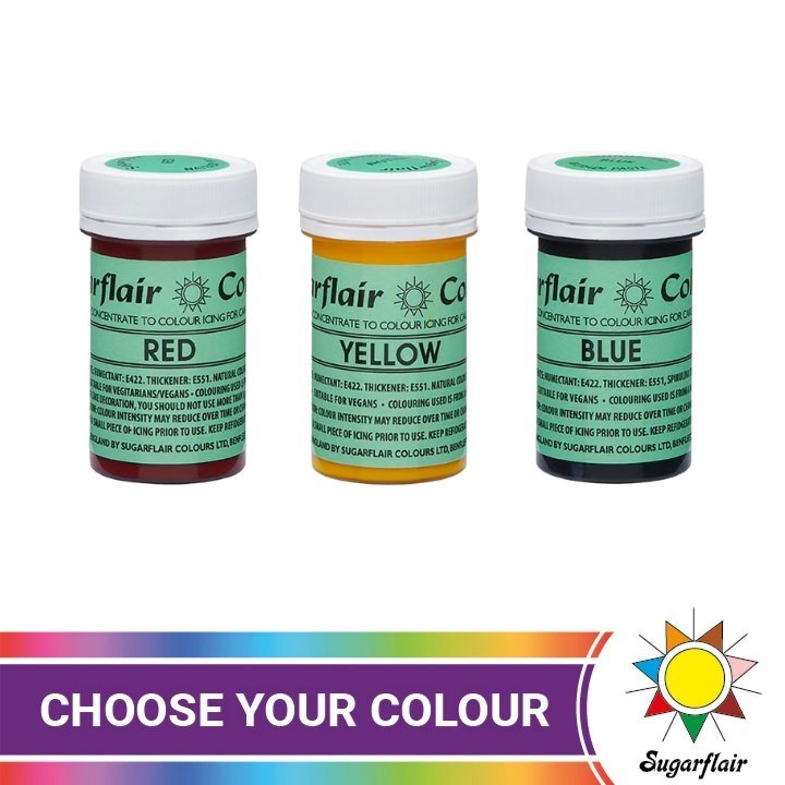 Sugarflair NatraDi Natural Food Colouring Pastes